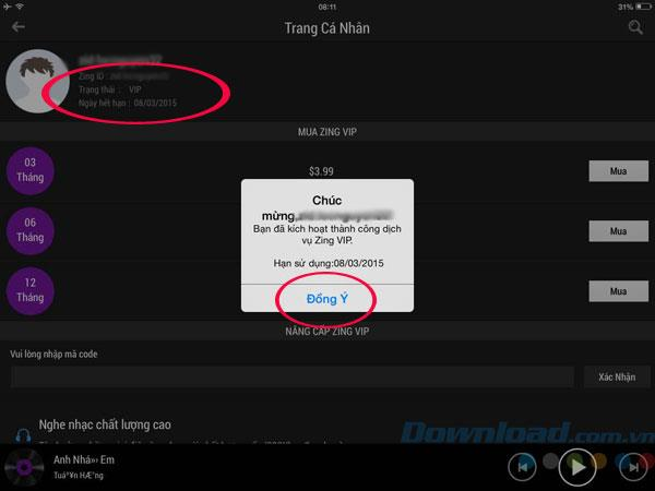 How to register for Zing VIP to download free music on Zing MP3
