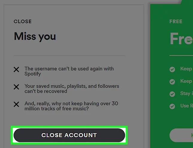 كيفية حذف حساب Spotify