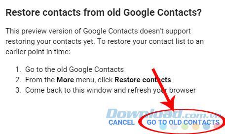 نحوه بازیابی مخاطبین در Gmail