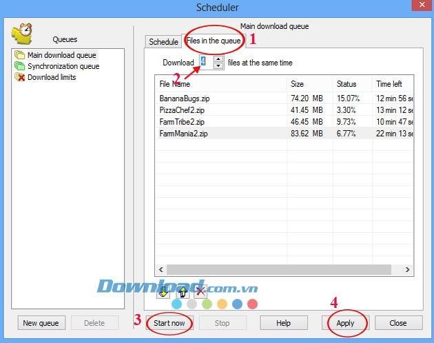 جدولة IDM لإيقاف التشغيل تلقائيًا