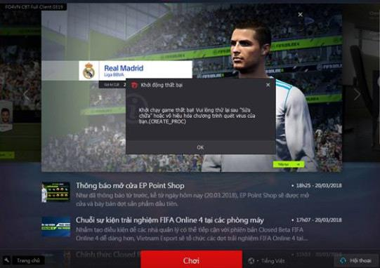 Summary of FIFA Online 4 errors and how to fix them