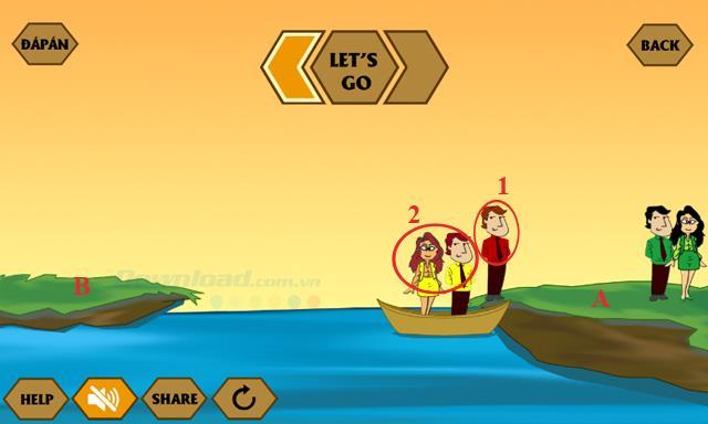 إجابات لأحدث لعبة IQ River Crossing
