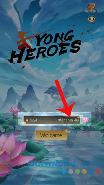 お使いの携帯電話でYong Heroesをダウンロードして再生するための手順