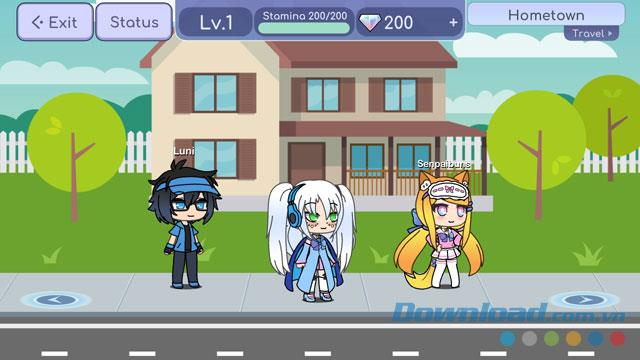 Instructions for installing and playing Gacha Life game on your phone