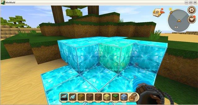 قم ببناء مثقاب يحول الصخور إلى ألماس في Mini World: Block Art