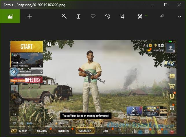 How to take screenshots of the game screen on GameLoop