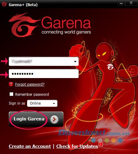 Instructions on how to play the AOE Empire on Garena