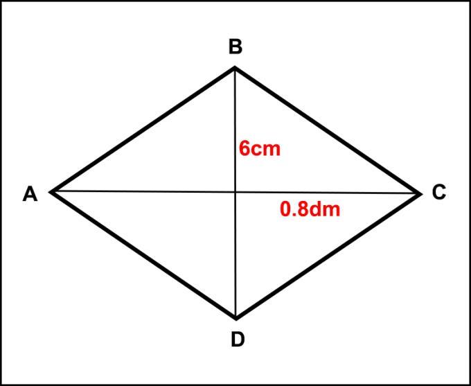 Bir eşkenar dörtgenin tam alanını, bir eşkenar dörtgenin çevresini hesaplamak için formül