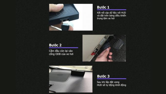 Instrucciones para instalar el dispositivo de visualización en el cristal de conducción de los coches HUD