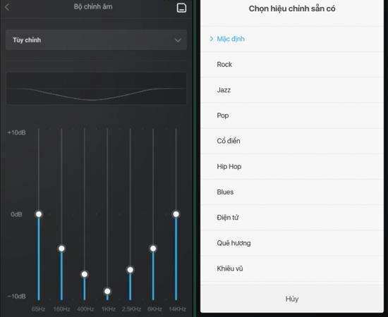 Anweisungen zum Anpassen von Effekten und Klangqualität auf Xiaomi Redmi 4X