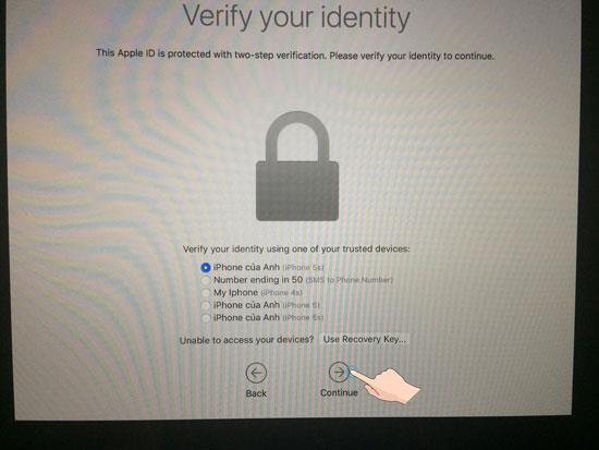 Anweisungen zum Wiederherstellen des Passworts für Macbook