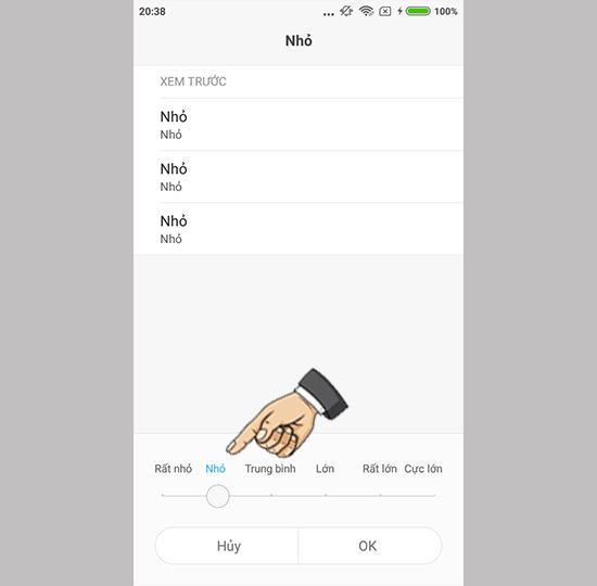 Xiaomi Redmi 5A'da metin boyutunu değiştirin