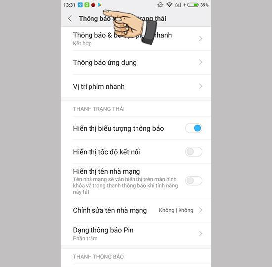So passen Sie die Anzeige des Benachrichtigungssymbols Xiaomi Redmi 5A an