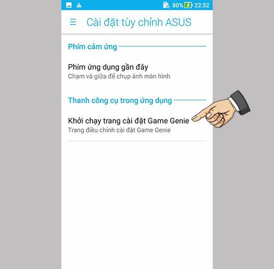Asus Zenfone 4 Max ZC520KL'de oyun araç çubuğunu etkinleştirin