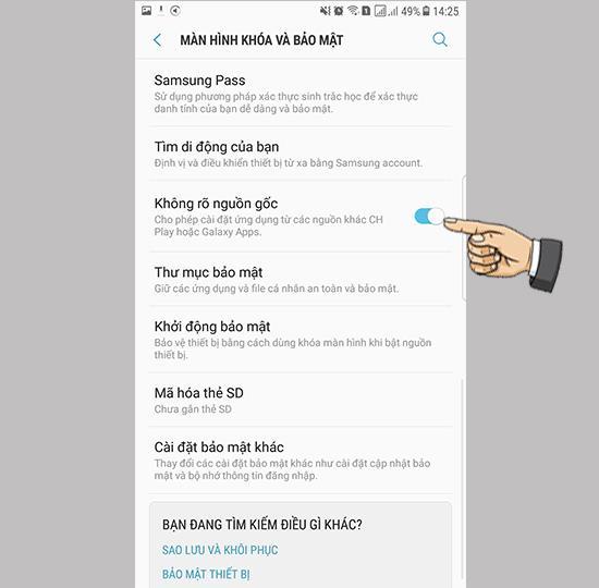 Ative configurações desconhecidas no Samsung Galaxy Note FE