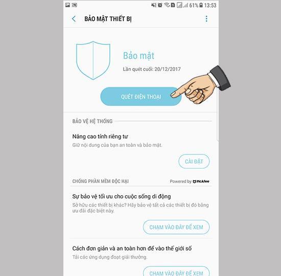 Como verificar a presença de vírus no Samsung Galaxy Note FE