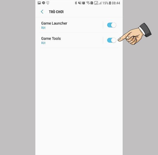 เปิดใช้งาน Game Tool บน Samsung Galaxy Note FE