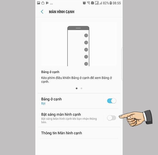सैमसंग गैलेक्सी नोट FE पर एज स्क्रीन ब्राइटनेस ऑन करें