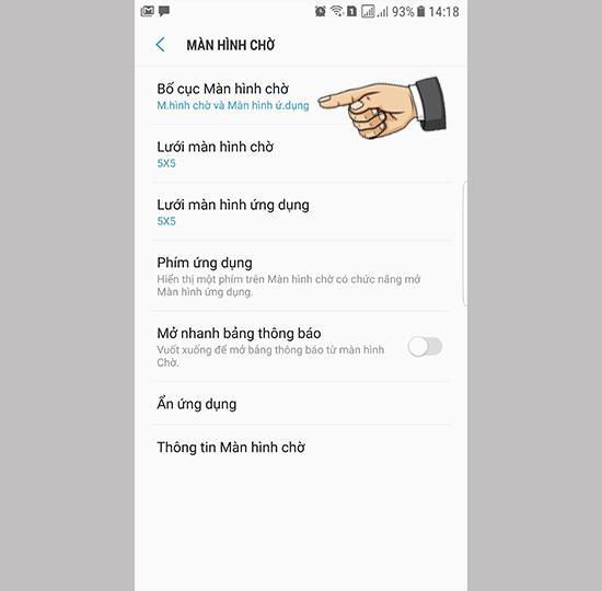 Alterar layout da tela no Samsung Galaxy Note FE