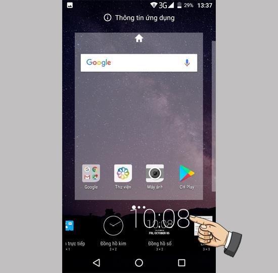 Widget-Widget auf Philips S327 hinzufügen