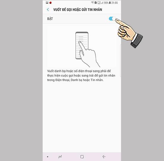 सैमसंग गैलेक्सी नोट 8 पर कॉल या टेक्स्ट को स्वाइप करें