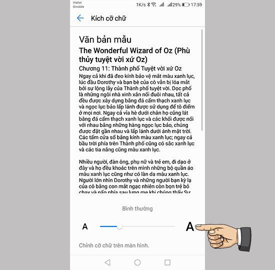 Huawei Nova 2i'de yazı tipi boyutunu değiştirin