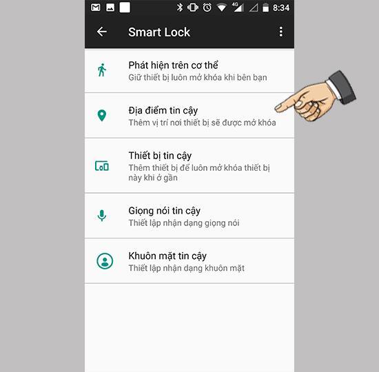 Smart Unlock auf dem Nokia 8