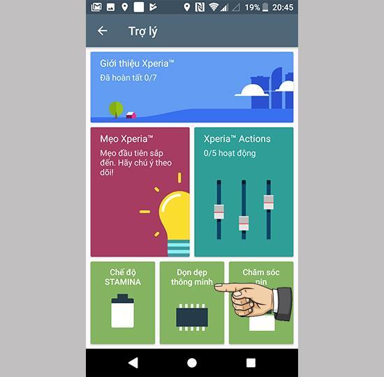 在 Sony Xperia XZ1 上啟用智能清潔實用程序