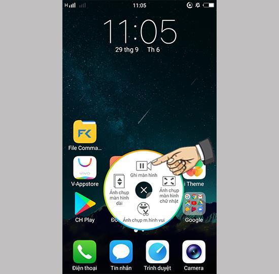 Bildschirmvideo auf dem Vivo Y69 aufnehmen