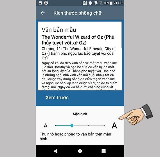 Sony Xperia XA1 Plus'ta yazı tipi boyutu nasıl özelleştirilir
