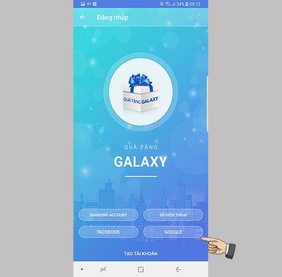 Anweisungen zur Verwendung der Galaxy Gifts-App