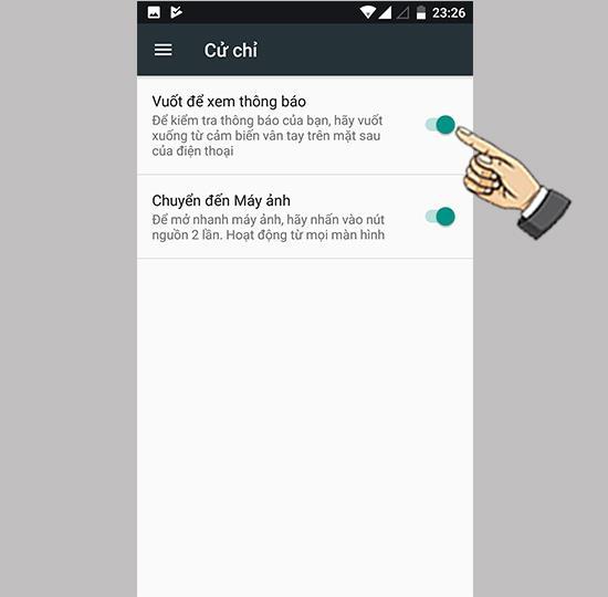 Parmak izi sensörü Xiaomi Mi A1 ile uygulama bildirimlerini açın