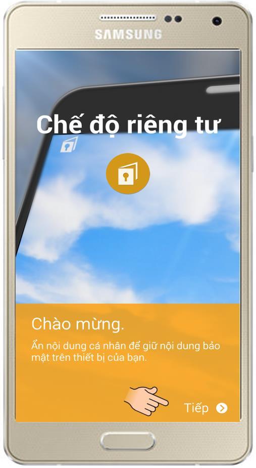 Samsung GalaxyA5でプライベートモードを有効にする