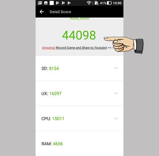 Asus Zenfone 4 Max Pro'da Antutu Skoru