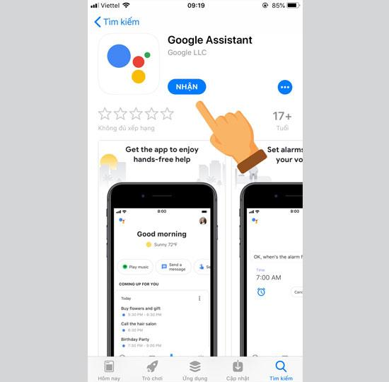 Vietnam Appstore'da Resmi Google Asistanı