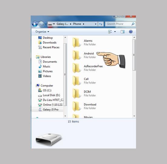 تعليمات لتوصيل Samsung Galaxy J3 Pro بجهاز كمبيوتر
