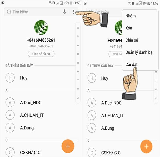 연락처를 Samsung Galaxy J3 Pro에 복사하는 방법