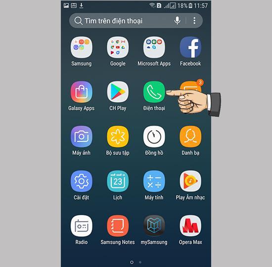 Blokir panggilan di Samsung Galaxy J3 Pro