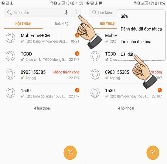 Como bloquear mensagens no Samsung Galaxy J3 Pro
