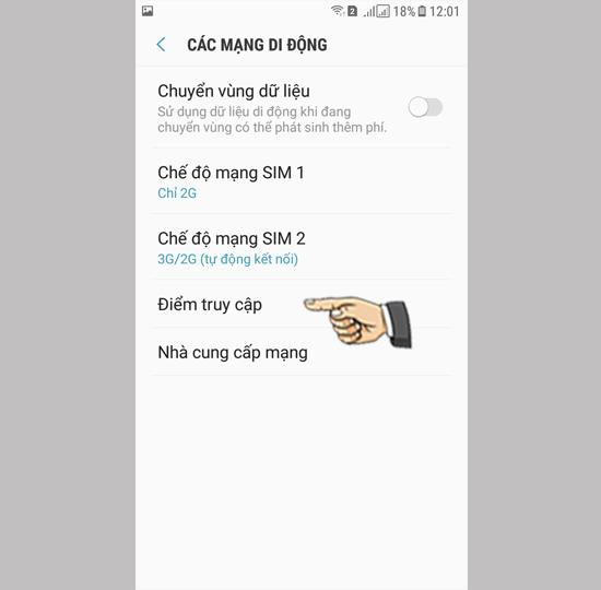 قم بتمكين 3G على Samsung Galaxy J3 Pro