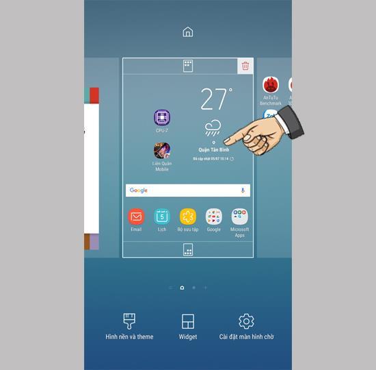 Ajouter des widgets sur Samsung Galaxy J7 Pro