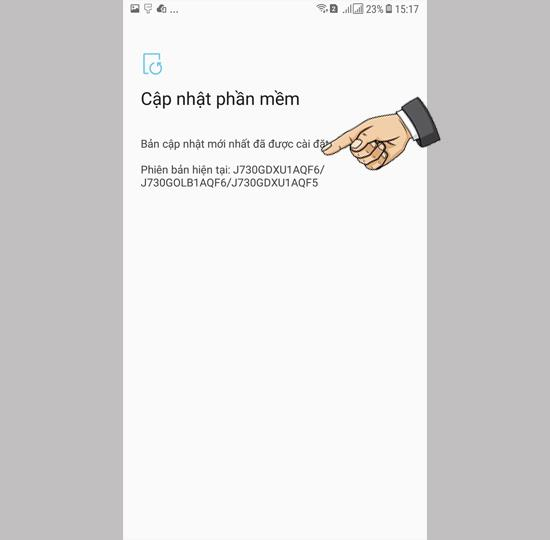 Check for software update on Samsung Galaxy J7 Pro