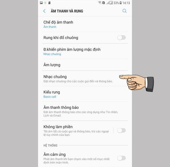 Definir toque no Samsung Galaxy J7 Pro