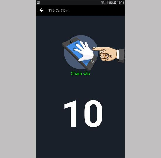 Touch point on Samsung Galaxy J7 Pro
