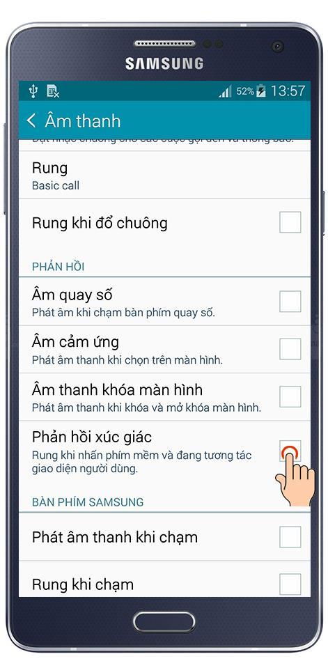 Régler pour vibrer au toucher du clavier sur Samsung Galaxy A7