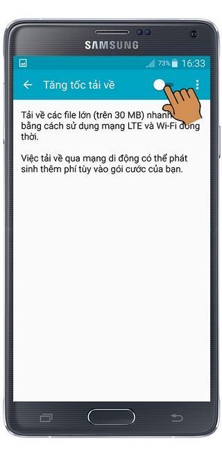 Activer le mode boost de vitesse de téléchargement sur Samsung Galaxy Note 4