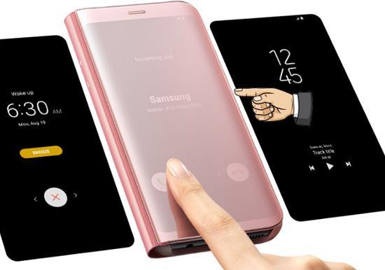 وضع الجراب الجلدي في Samsung Galaxy S8