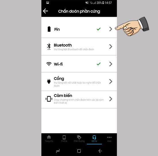 Sprawdź czujnik za pomocą aplikacji My Samsung na Samsung Galaxy S8