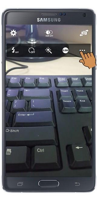 Settings to take pictures with the volume up and down keys on Samsung Note 4