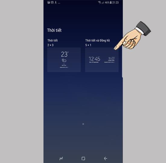Samsung Galaxy S8의 화면에 위젯 추가